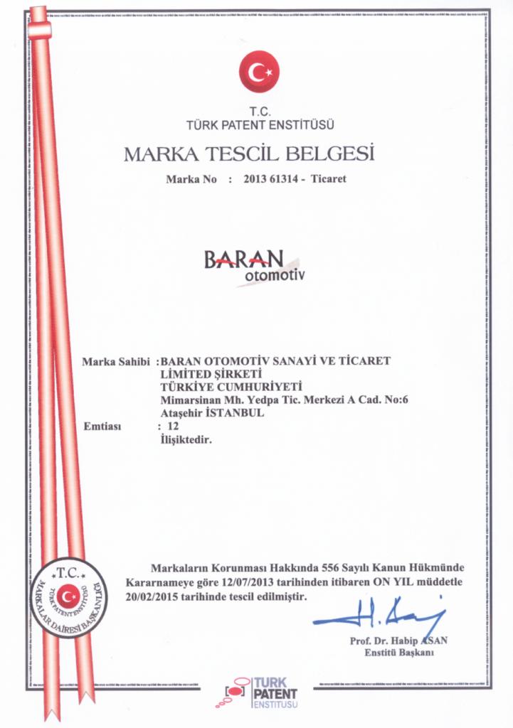 brn sertifika, baranoto sertifika